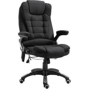 Vinsetto Bürostuhl mit Massage- und Wärmefunktion 67 x 67 x 116–126 cm (BxTxH)   Chefsessel Massagesessel Bürosessel PC-Stuhl