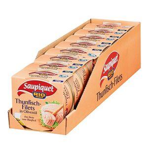 Saupiquet Thunfischfilet in Olivenöl 185 g, 8er Pack