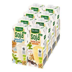 BioBio Sojadrink 1 Liter, verschiedene Sorten, 8er Pack