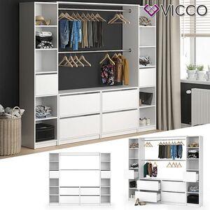 VICCO Kleiderschrank GUEST XXXL offen begehbar Regal Kleiderständer Schrank