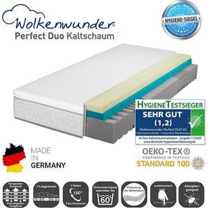Wolkenwunder Perfect DUO KS Kaltschaummatratze inkl. integriertem Topper... H2, 90x200 cm
