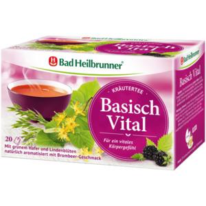 Bad Heilbrunner Kräutertee Basisch Vital 40g, 20 Beutel