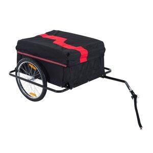 Homcom Transportanhänger für Fahrräder schwarz/rot