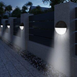 Deuba 6x LED Solarleuchte Wasserdicht, Schwarz