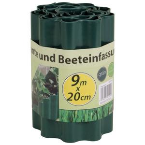 Kunststoff-Rasenkante 9x0,20m
