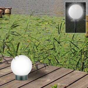 LED-Solar-Kugelleuchte 15cm