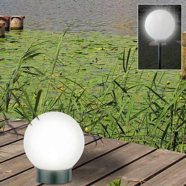 LED-Solar-Kugelleuchte 20cm