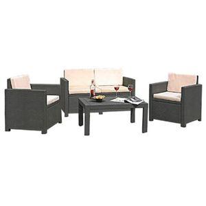 Lounge Auflagen-Set 8er Grau
