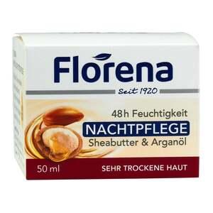 Florena              48 h Feuchtigkeit Nachtpflege Sheabutter & Arganöl