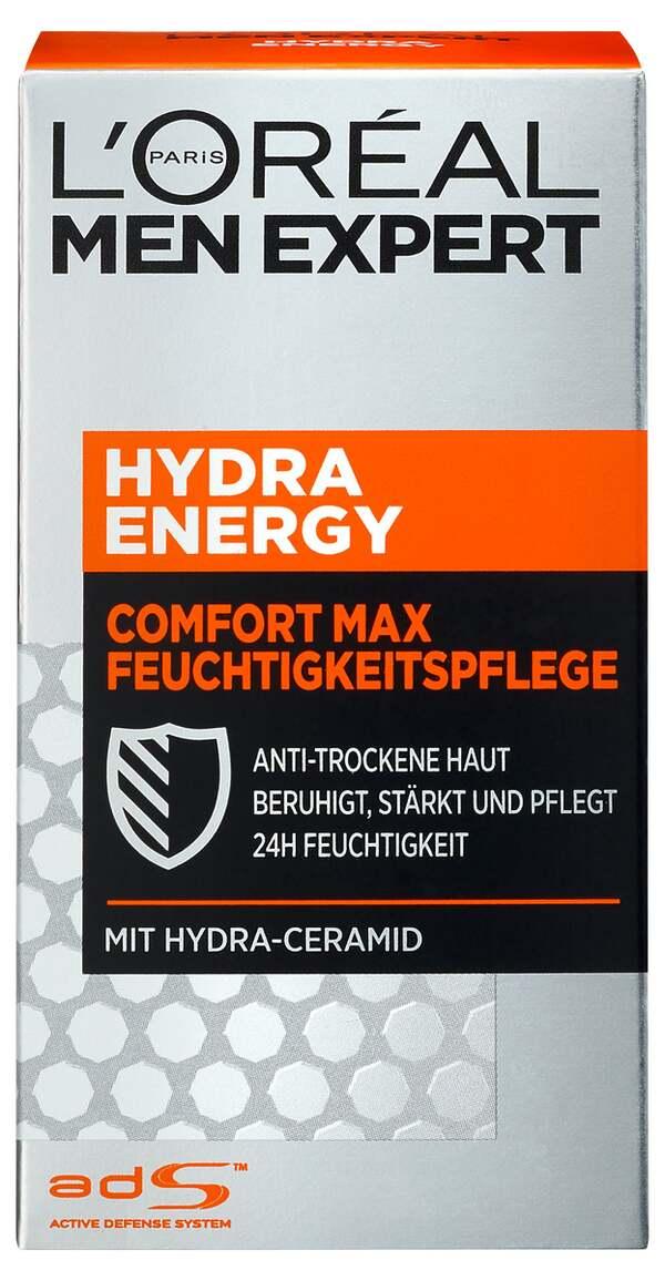 L'Oréal Paris men expert              Hydra Energy Comfort Max Feuchtigkeitspflege Anti-trockene Haut