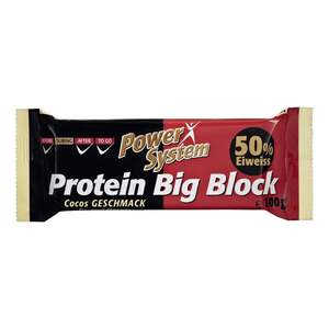 "Power System              Protein Big Block Eiweiß Riegel ""Cocos Geschmack"""