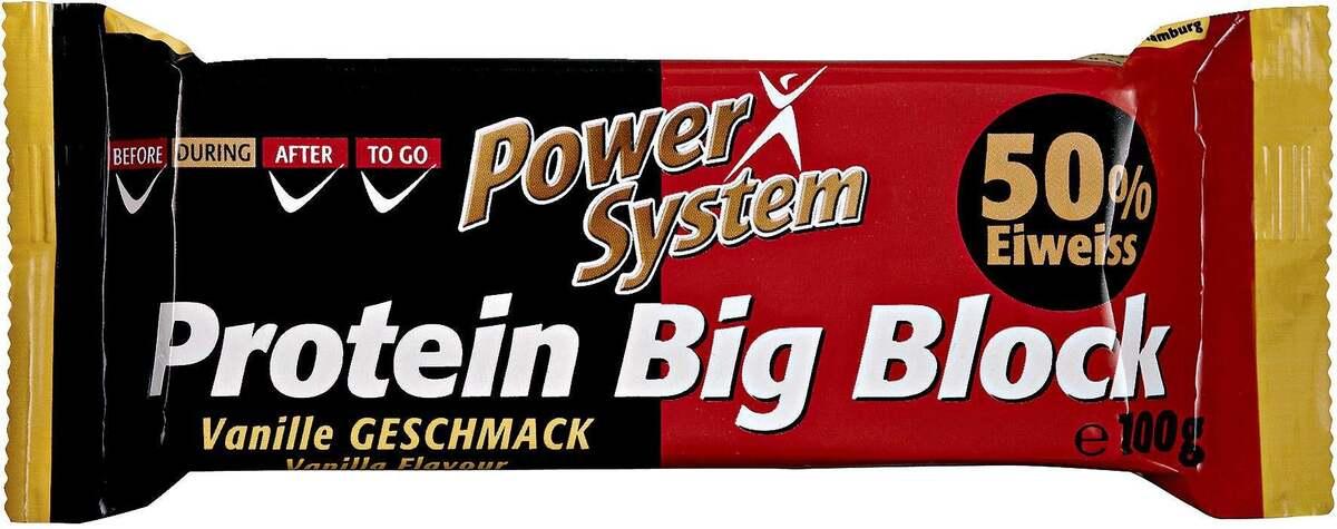 """Bild 1 von Power System              Protein Big Block Eiweiß Riegel """"Vanille Geschmack"""""""