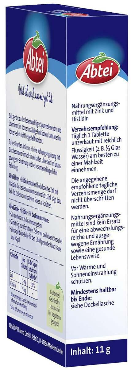Bild 3 von Abtei              Zink + Histidin Tabletten