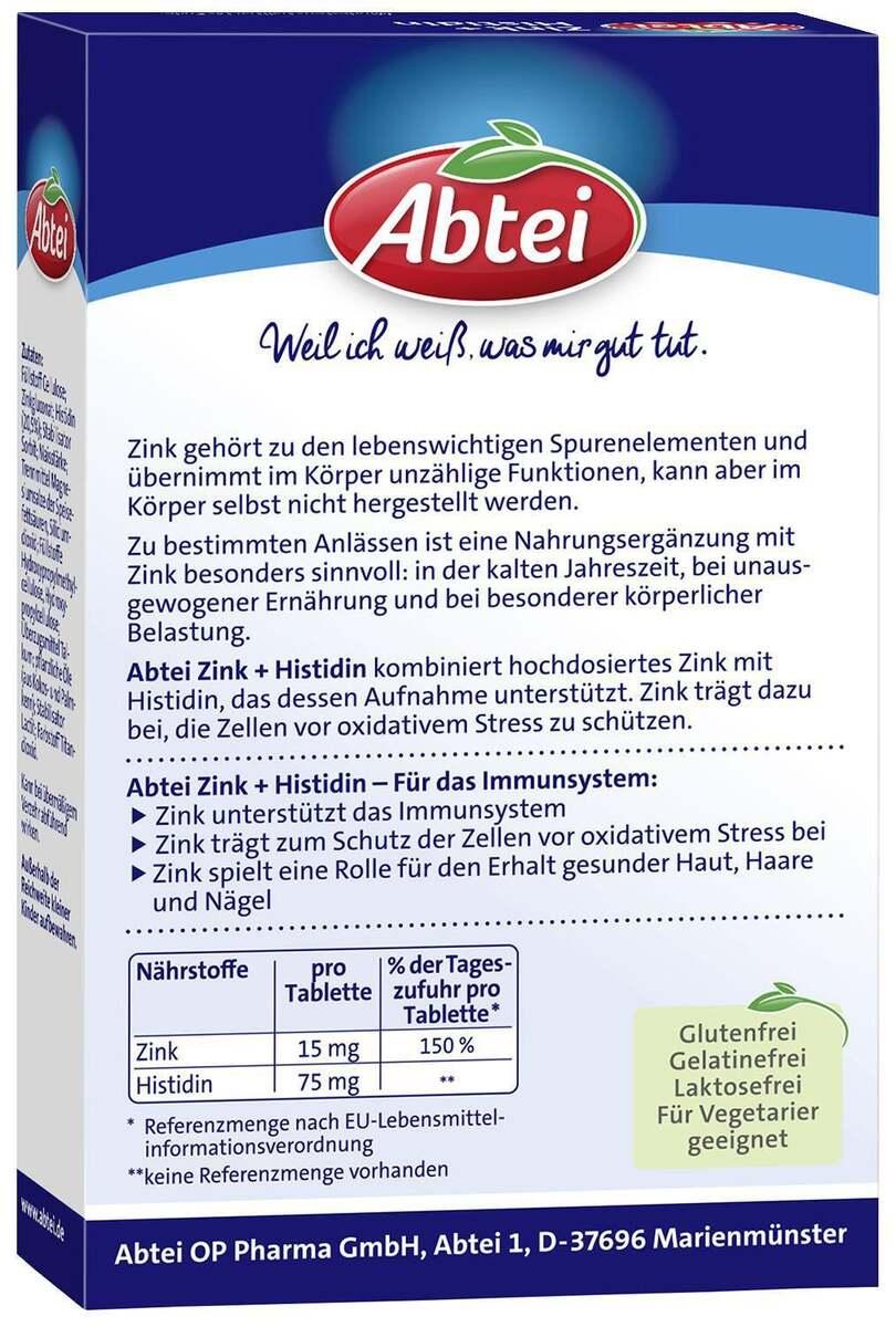 Bild 4 von Abtei              Zink + Histidin Tabletten