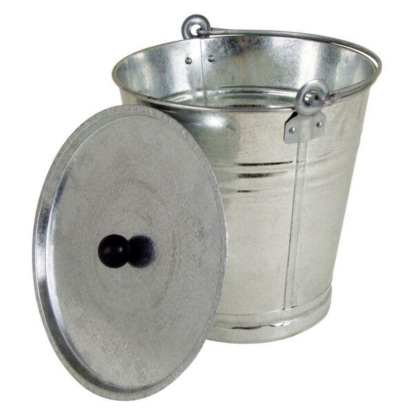 Zinkeimer mit Deckel 12 Liter