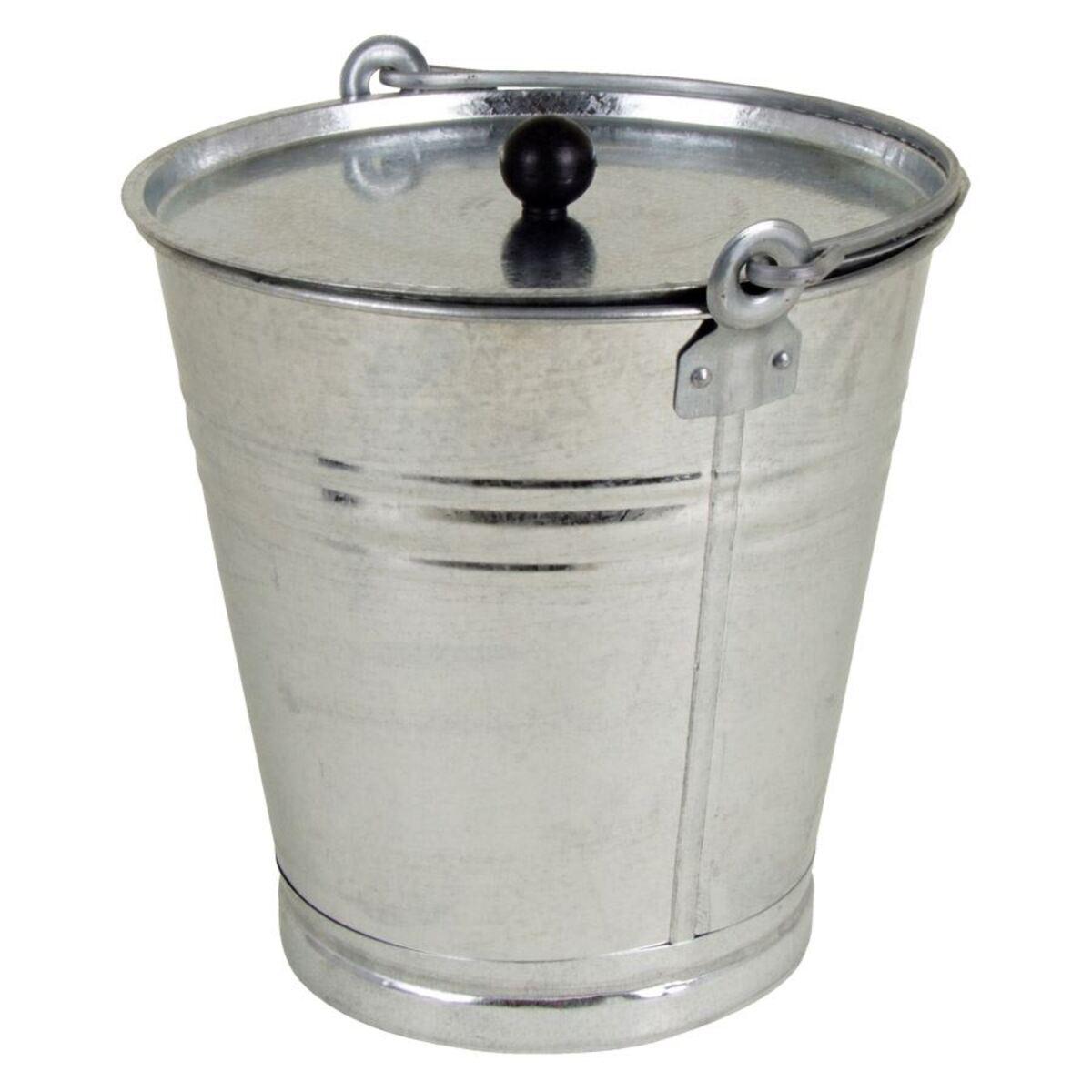 Bild 2 von Zinkeimer mit Deckel 12 Liter