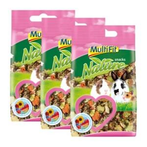 MultiFit nature Snacks Blüten & Gemüse 3x100g