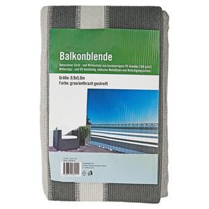 Balkonblende grau 500 x 90 cm