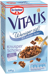Dr.Oetker Vitalis Knusper Schoko Müsli weniger süß 500 g