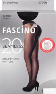FASCÍNO Strumpfhose Seamless matt 20 den, schwarz, Gr. 42/44