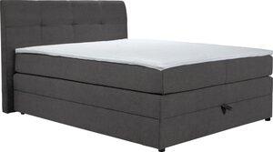 DELAVITA Boxspringbett »Finja« (4-tlg), besonders komfortable Liegehöhe, mit praktischem Bettkasten