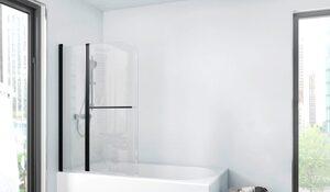 Marwell Badewannenfaltwand »FACTORY«, Einscheibensicherheitsglas, (2 tlg), Breite: 100 cm