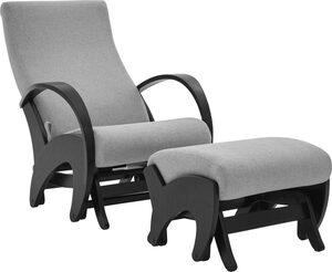 ATLANTIC home collection Relaxsessel (Set, Sessel+Hocker), mit Rückenverstellung und Schaukelfunktion, Set inklusive Hocker