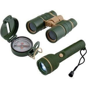 Scout - Entdecker-Set - Taschenlampe, Fernglas, Kompass
