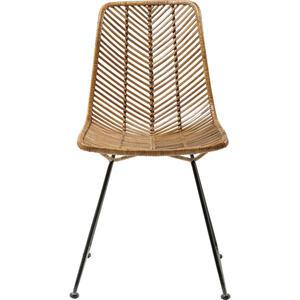 Kare-Design Stuhl rattan braun, schwarz , KO Lanta -Trend- , Holz, Metall , 44.45x85.73x54.61 cm , Echtholz , 001838061701