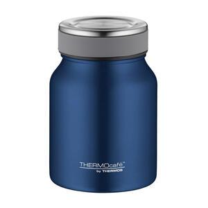 Alfi Isolierspeisegefäß 0,5 l , 4077.259.050 , Blau , Metall , matt , doppelwandig, schlag- und bruchfest, lebensmittelecht, Vakuum, 100% dicht, abnehmbarer Deckel, Schraubverschluss, hält warm, h