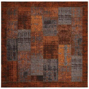 Novel Flachwebeteppich 200/200 cm kupferfarben , Patch , Textil , Vintage , 200x200 cm , in verschiedenen Größen erhältlich , 004063009069