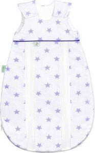 Schlafsack primaklima, Jersey, Stars soft violett, Gr. 70 cm lila