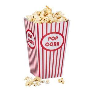 Popcorntüten 48 Stück rot/weiß