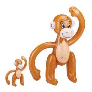 2 x Affe aufblasbar Wasserspielzeug Safari Party Deko Dschungel Äffchen braun