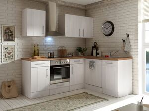 respekta Premium L-Küchenblock Landhaus