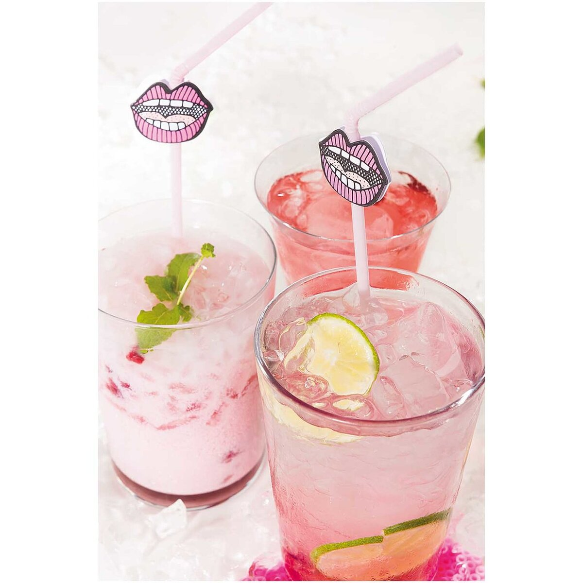 Bild 4 von YEY! Let's Party Strohhalm Mund pink 24 Stück