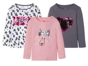 LUPILU® Kleinkinder Langarmshirt Mädchen, mit Pailletten