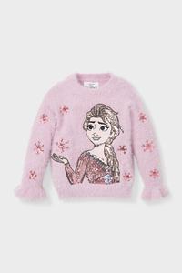 C&A Die Eiskönigin-Pullover-Glanz-Effekt, Rosa, Größe: 110