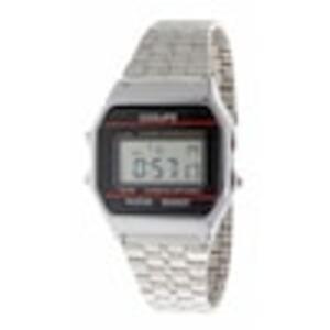 Coolife Produkte Schicke Digitaluhr aus Metallgehäuse im Silberton Uhr 1.0 st