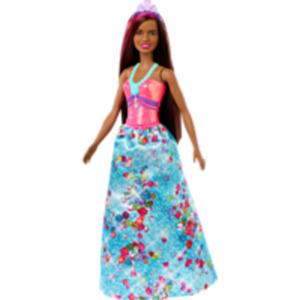 BARBIE Dreamtopia Prinzessinnen Puppe (brünett und pinkfarbenes Haar)