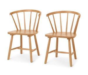 2 Massivholzstühle mit Armlehne