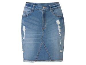 ESMARA® Jeansrock Damen, 5-Pocket-Style, aus Baumwolle und Elasthan