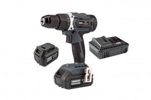 Primaster Pro Akku-Bohrschrauber-Set 20/40 V 20 V, 5,0/ 2,5 Ah, 2x 20/40 V Akku, 60 Nm, bürstenloser Motor