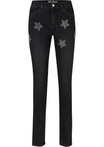 Stretch-Jeans, mit Stern-Nieten