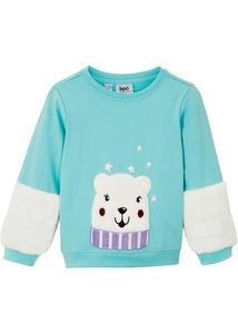 Mädchen Sweatshirt mit Fleecedetails