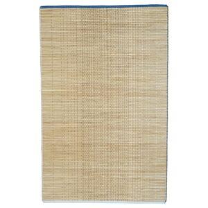 FÖRÄNDRING Teppich flach gewebt, Handarbeit/Reisstroh blau/naturfarben