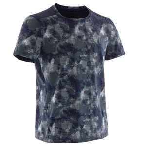 T-Shirt Synthetik atmungsaktiv S500 Gym Kinder blau