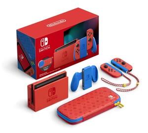 NINTENDO Switch Mario-Edition (rot & blau)