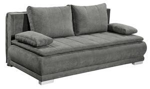 Schlafsofa in Grau ca. 162x207 cm Schlaffunktion