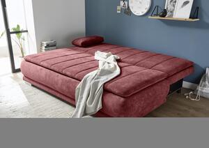 Schlafsofa in Beerenfarbe ca. 162x207 cm Schlaffunktion